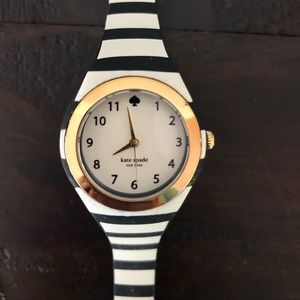 Kate Spade Women's Rumsey B&W Stripe Watch 30mm